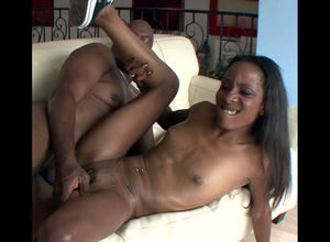 Lean dark-hued bitch Jayna was poked..