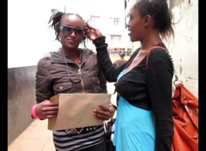 Ebony lesbos agree on a encounter in..