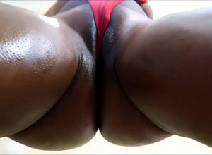 Lubricated booty idolize from african..