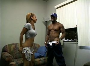 Huge-boobed inexperienced ebony virgin..