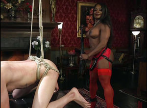 Ebony  Kelli Provocateur strapping..