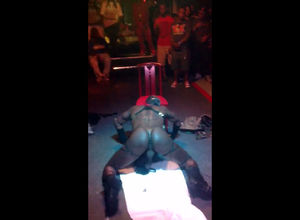 African gogo stripper dirty dancing at..