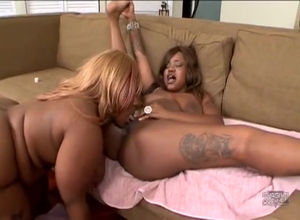 Lush ebony gfs make lezzy joy