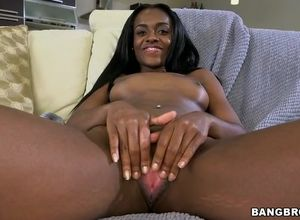Milky  pleasuring ebony cunt